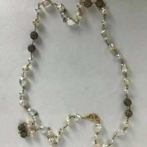 ST. JOHN Women's Goldtone Faux Pearl & Rhinestone